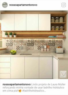 No automatic alt text available. Kitchen Room Design, Kitchen Cabinet Design, Kitchen Sets, Modern Kitchen Design, Home Decor Kitchen, Interior Design Kitchen, Kitchen Furniture, Home Design, New Kitchen