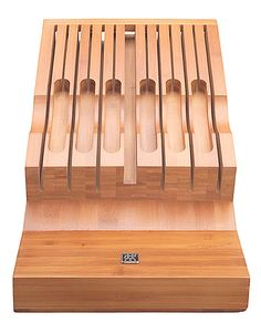 Twin Bamboo In Drawer Knife Storage