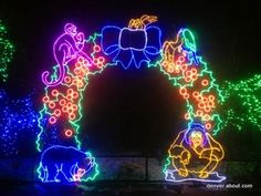 The Denver Zoo lights up the night with more than 150 animated animal sculptures crafted of Christmas lights at Zoo Lights. View five photos from the 2013 Zoo Lights.: Wreath of Lights