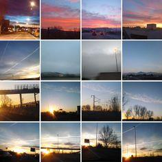 Mosaic fotogràfic de la iniciativa que he començat a Instagram sobre com veig el cel a les 8 del matí sota el hastag #elcelales8 http://immamestrecunillera.blogspot.com.es/2014/02/el-cel-les-8-del-mati.html