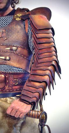 Roman Manica Arm Bracer leather Bracer leather armor armor