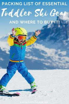 Skiing Packing List: The Best Skiing Packing List for Toddler Ski Trip - My Winter Break 2020 Packing List For Travel, Packing Lists, Travel Tips, Travel Info, Travel Hacks, Travel Guides, Travel With Kids, Family Travel, Kids Skis