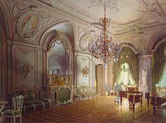 The Russian mansion of von Stieglitz: the Concert Hall, 1870 | Luigi Premazzi