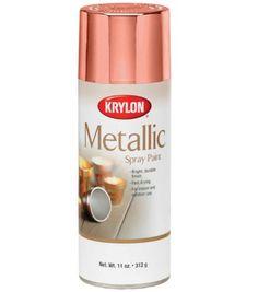 Krylon Metallic Spray Paint No Colour Tinta Spray Rose Gold, Tinta Spray Cobre, Metallic Spray Paint, Paint Brass, Glitter Paint, Rose Gold Decor, Gold Bedroom, Bedroom Decor, Paint Set
