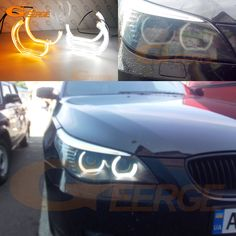 Find More Car Light Accessories Information about For BMW 5 SERIES E60 E61 528i 528xi 535i 550i M5 Xenon headlight DTM M4 Style LED Angel Eye Kit Dual White Amber switchback,High Quality switchback,China switchback led Suppliers, Cheap switchback headlight led from Geerge-Tech on Aliexpress.com