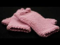 ✿ ❤ (crochet fingerless gloves) Yarım eldiven örgü yapımı