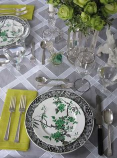 Old and new table setting