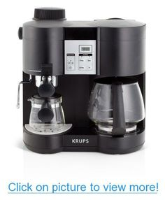 KRUPS XP160050 Coffee Maker and Espresso Machine Combination, Black #KRUPS #XP160050 #Coffee #Maker #Espresso #Machine #Combination #Black