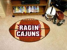 Louisiana Lafayette ULL Ragin Cajuns Football Shaped Area Rug Welcome/Bath Mat