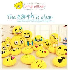 [Visit to Buy] Funny Cute emoji pillow Plush Toy coussin cojines emoji gato Emotion Cushion emoticonos smiley Pillows Stuffed Plush almofada #Advertisement