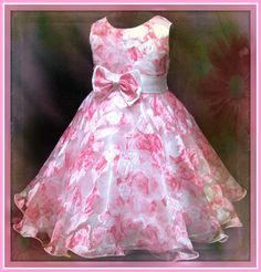 Details about Pinks Floral Christening Wedding Party Flowers Girls Dresses SIZE 3 to African Dresses For Kids, Girls Party Dress, Little Dresses, Little Girl Dresses, Girls Dresses, Flower Girl Dresses, Flower Girls, Frock Patterns, Baby Girl Dress Patterns