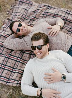 Love these poses for a same sex engagement shoot