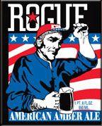 Rogue Ales- American Amber on Draft. Happy 4th Week