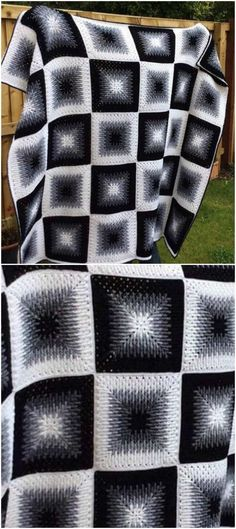 Mosaic Granny Square Afghan - Bastelideen , Mosaic Granny Square Afghan – Craft Ideas , Blocks S. Crochet Afghans, Motifs Afghans, Crochet Bedspread, Crochet Quilt, Afghan Crochet Patterns, Baby Blanket Crochet, Easy Crochet, Knit Crochet, Crochet Blankets