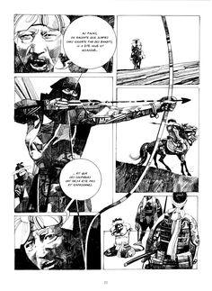 Comic book artwork illustration by artist Sergio Toppi