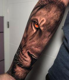 """RAUL on Instagram: """"😈 #tattoo #tattoos # ink #inked #realism #animales #photography #lion #thebestspaintattooartists #tatuajes #tatuaje #leon #tat #tats…"""" Lion Leg Tattoo, Female Lion Tattoo, Lion Shoulder Tattoo, Lion Forearm Tattoos, Animal Sleeve Tattoo, Lion Tattoo Sleeves, Lion Head Tattoos, Forarm Tattoos, Best Sleeve Tattoos"""