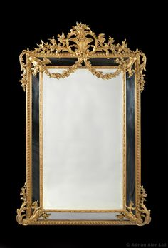 A Large and Finely Carved Louis XVI Style Marginal Frame Giltwood #Mirror.  French, Circa 1880 - #adrianalan #opulence