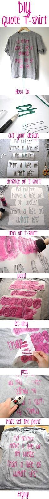 A Splendid Assemblage: DIY: Inspirational Quote T-Shirt #DIY-Crafts