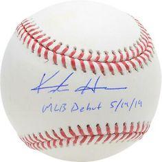 "Keston Hiura Brewers Signed Baseball with ""MLB Debut Insc - Fanatics Baseball Signs, Autographed Baseballs, Milwaukee Brewers, Major League, Mlb, Hologram, Things To Sell, Products"