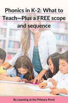"""""""Do you have a scope and sequence for your phonics instruction? A lot of teachers I've spoken with…don't! In this blog post, I have a free phonics scope and sequence for you—plus tips on how to use the scope and sequence effectively!"""