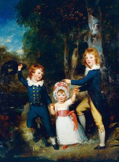 The Cavendish Children, 1790 by (Sir) Thomas Lawrence (English, 1769-1830).