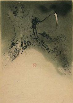Armand Rassenfosse.Illustration pour la Mort des artistes, poème extrait des…