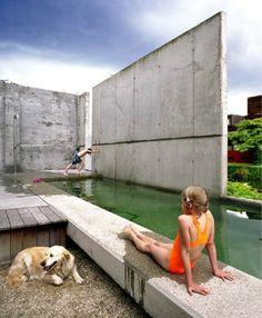 En Plus Architecten - stadstuin- zwemvijver