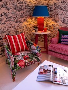 Want that little chair and also that wallpaper.  Anna Spiro is genius is she not?