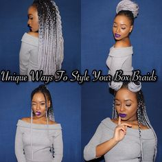 Unique Ways To Style Your Box Braids