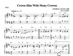 $1.50 Harp Music: Crown Him with Many Crowns for Harp