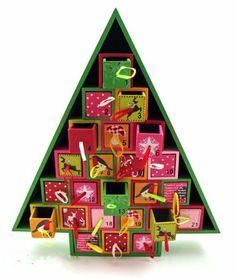 Amazon.com - Wood Christmas Tree Advent Calendar by 180 Degrees