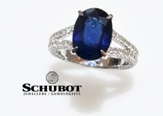 Oval Blue Sapphire ring.