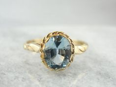 Vintage Ladies Birthstone or Day to Day Ring with by MSJewelers