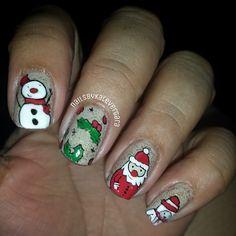 Christmas by nailsbykatevergara #nail #nails #nailart