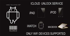 Icloud Unlock / Removal service. iPad, iPod, iWatch, MacBook, iPhone With Only Wifi (No Cellular Supported)