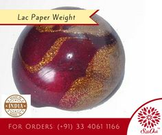 This Lac paper weight brings a sense of style and elegance to your table. #PaperWeight #DeskAccessories #handicraft
