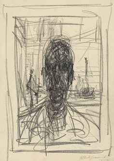 """Alberto Giacometti """"Portrait, Lithographic crayon and pencil on paper. The Museum of Modern Art New York. Alberto Giacometti, Life Drawing, Figure Drawing, Painting & Drawing, Conceptual Drawing, Sad Art, Art Graphique, Les Oeuvres, Printmaking"""