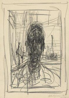 alberto giacometti. portrait. 1951