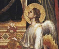 Giotto di Bondone, Madonna in Maestà (Madonna di Ognissanti), dettaglio