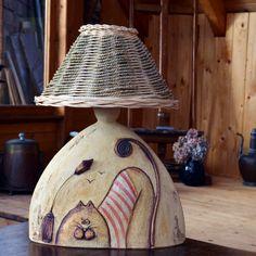"Lampa \"" Pod lampou\"" | Zobrazit plnou velikost fotografie Cool Lamps, Ceramic Art, Chandeliers, Ms, Clay, Craft Ideas, Cool Stuff, Crafts, Inspiration"