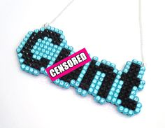 New to VelvetVolcano on Etsy: NSFW Mature C.nt Crystal Encrusted Word Necklace - Riot Grrrl - Punk - Psychobilly - You Choose Your Colours (22.35 GBP)