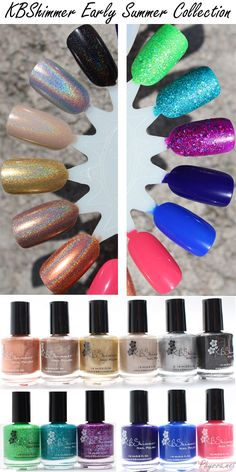 KBShimmer Early Summer collection review and swatches via @Phyrra