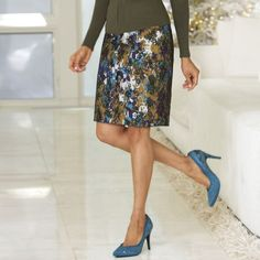 Mesh Overlay Skirt from Monroe and Main. Fashion Fit for You in Misses & Plus Sizes. www.monroeandmain.com
