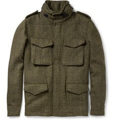 Aspesi Thermore-Insulated Harris Tweed Field Jacket