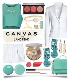 """Paint Your Look With Canvas by Lands' End: Contest Entry"" by ittie-kittie ❤ liked on Polyvore featuring Canvas by Lands' End, TIBI, Foley + Corinna, Lands' End, Jimmy Choo, tarte, Smashbox, Lana, Chanel and Rebecca Minkoff"