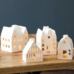 Village Luminary. Ideas for clay