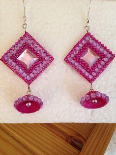 Crochet Earrings, Jewelry, Ear Piercings, Jewlery, Jewerly, Schmuck, Jewels, Jewelery, Fine Jewelry