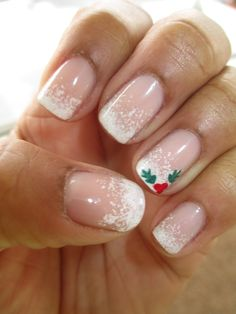 Image result for christmas french tip nail designs