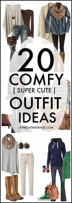 Fall Fashion - 20 Fashion Outfits that you can put together with cardigans, jeans, sweaters, and jackets that you may already have inside of your closet. These are super cute , easy, and comfortable fall outfit ideas!: #comfortFashion