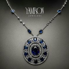 Yamron Jewelers_ Yamron holiday gift guide and we showcase this stunning Ceylon Sapphire necklace. 50 carats to be exact....